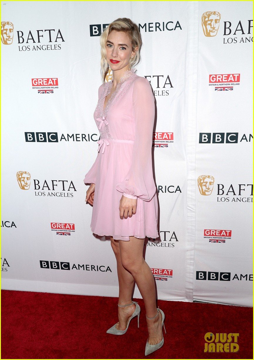 claire foy matt smith step out for bafta tea party 033958562