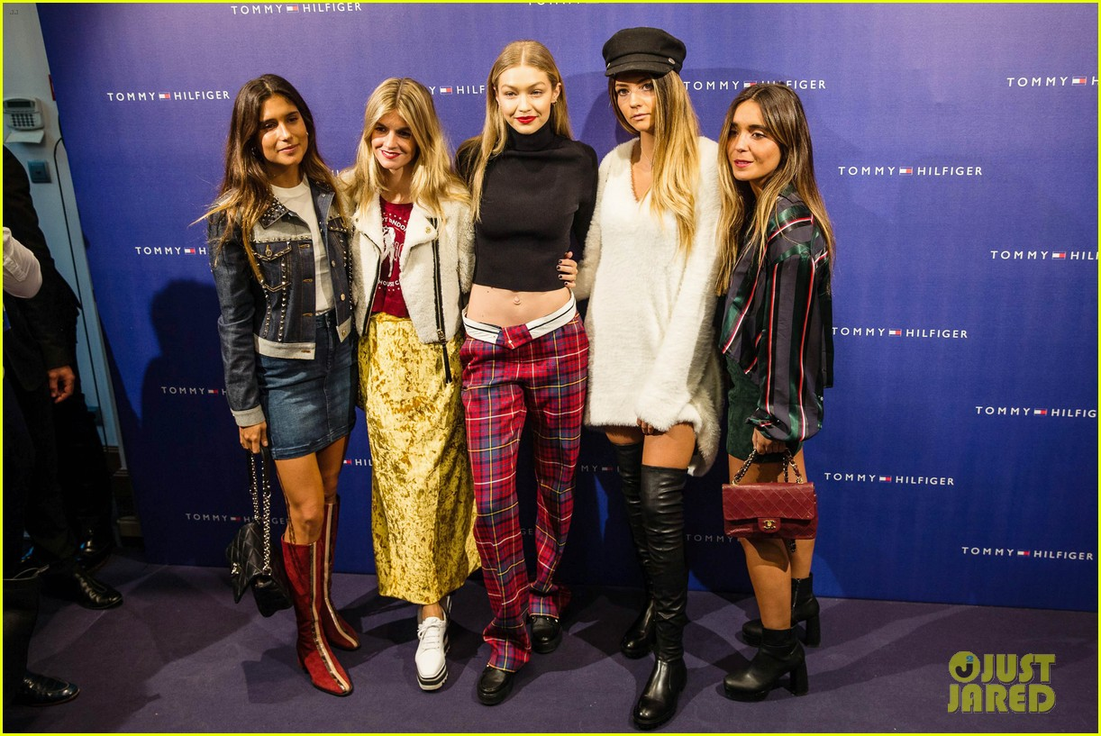 gigi hadid flaunts toned abs at tommy hilfiger event in spain 043964885
