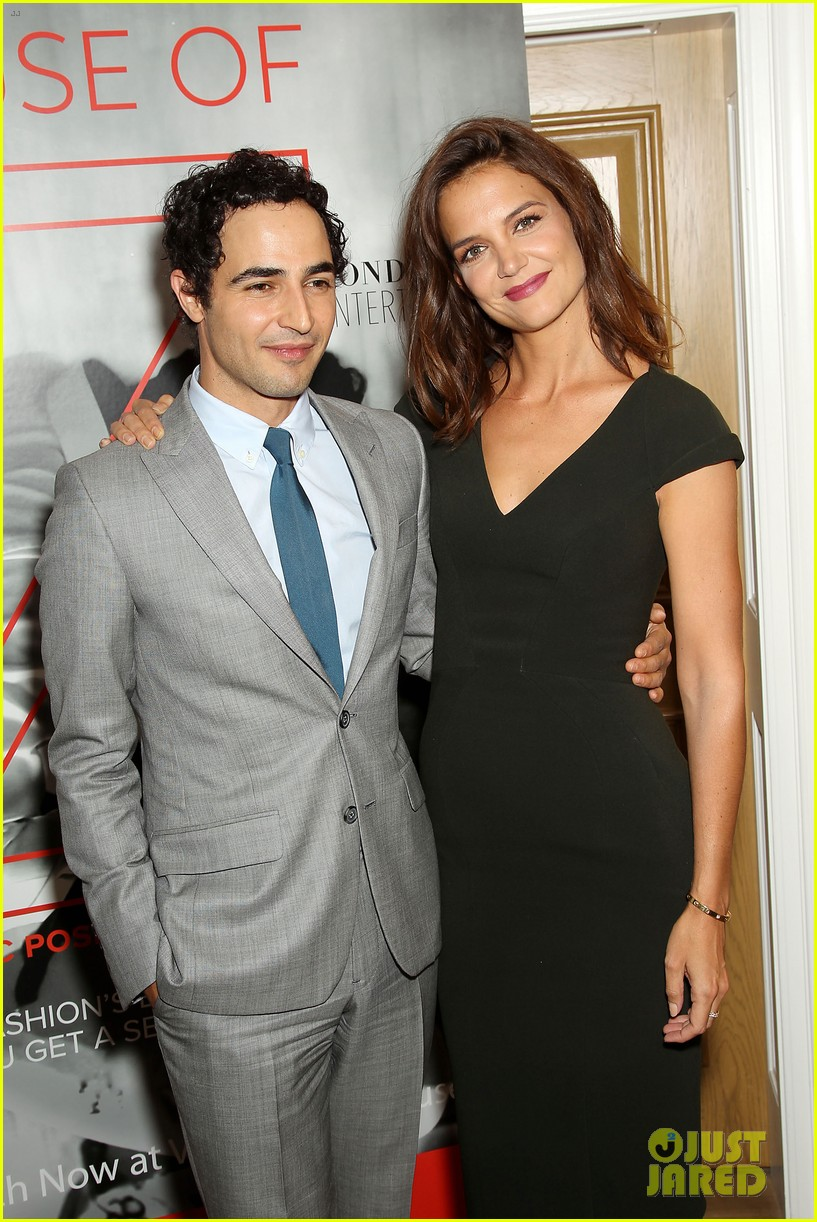 katie holmes supports designer zac posen at house of z premiere 013952573