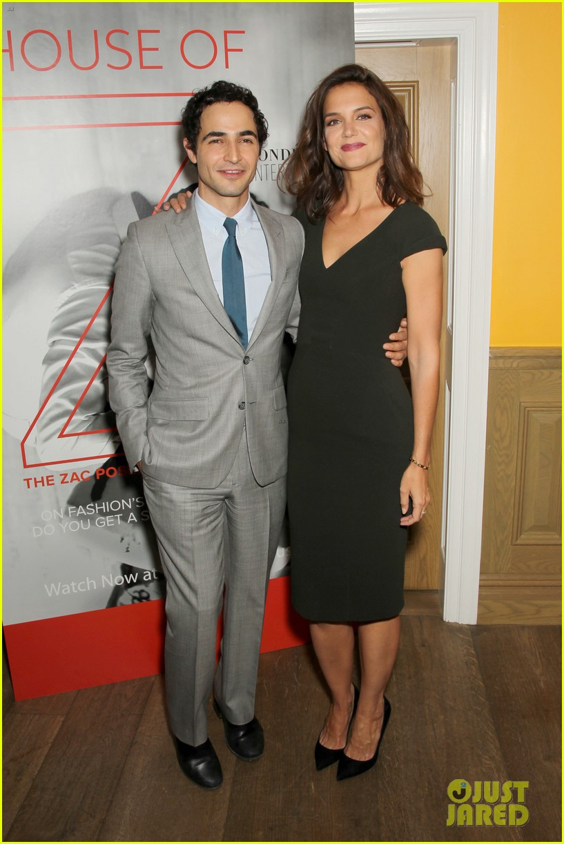 katie holmes supports designer zac posen at house of z premiere 033952575