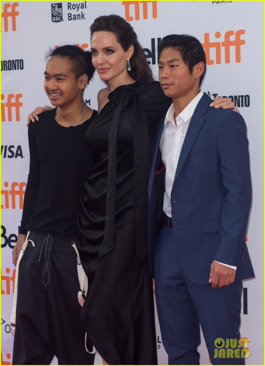angelina jolies kids join her at first they killed my father tiff premiere 243955252