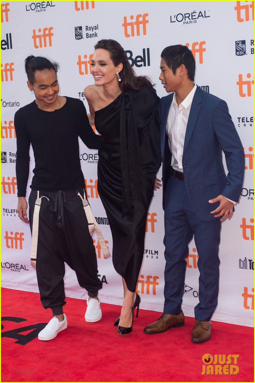 angelina jolies kids join her at first they killed my father tiff premiere 263955254