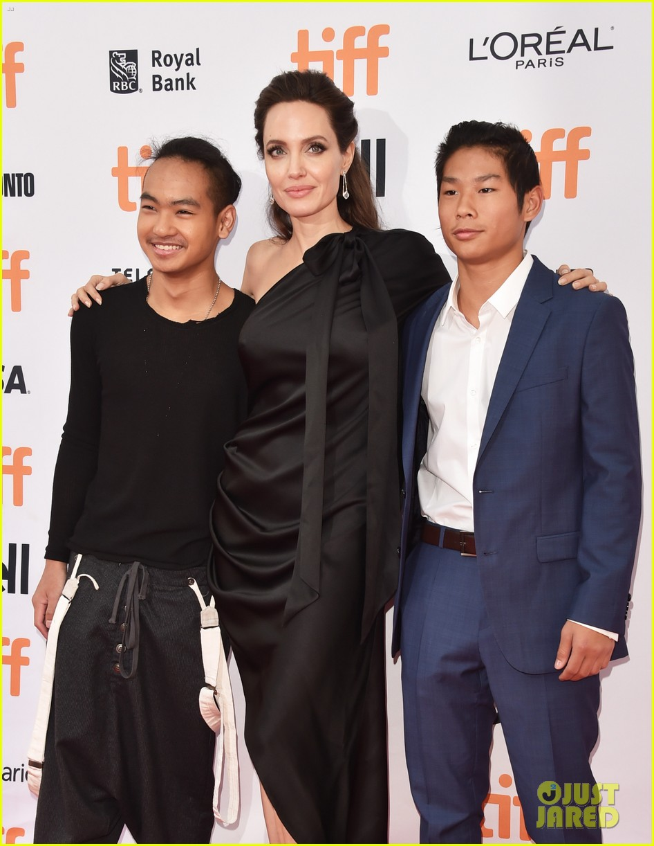 angelina jolies kids join her at first they killed my father tiff premiere 383955266