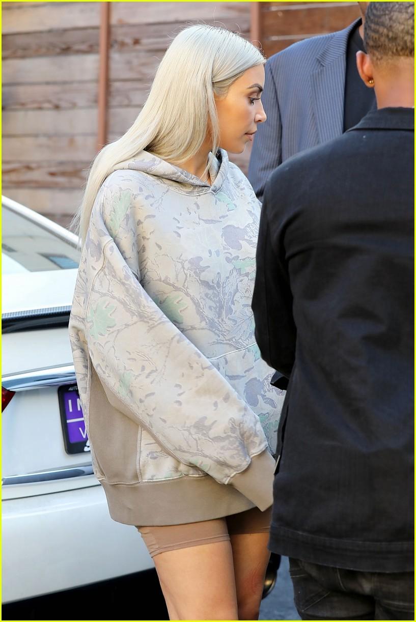 kim kardashian hits the studio in camo 033960601