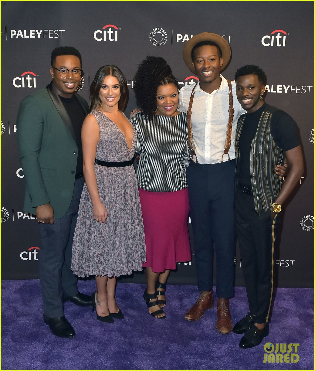 Lea Michele Looks Gorgeous With 'The Mayor' Cast At