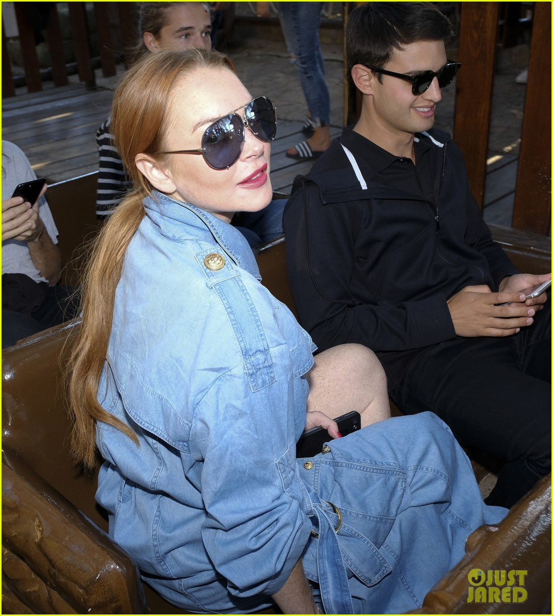 lindsay lohan shows off her street style during madrid fashion week 083960638