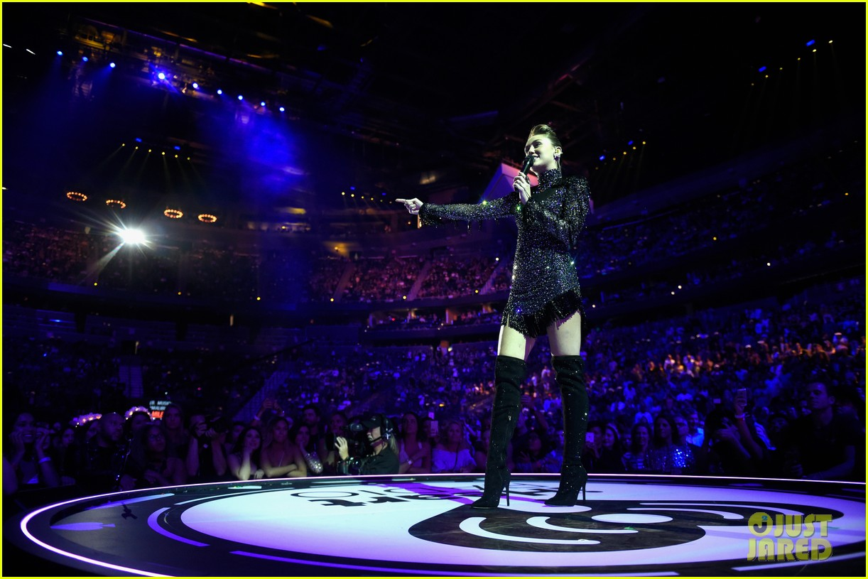 miley cyrus sparkles on stage at iheartradio music festival. 213963212