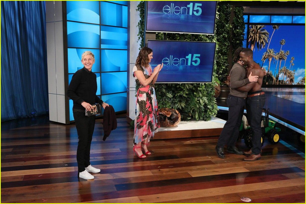 sterling k brown goes shirtless for his first ellen appearance 05