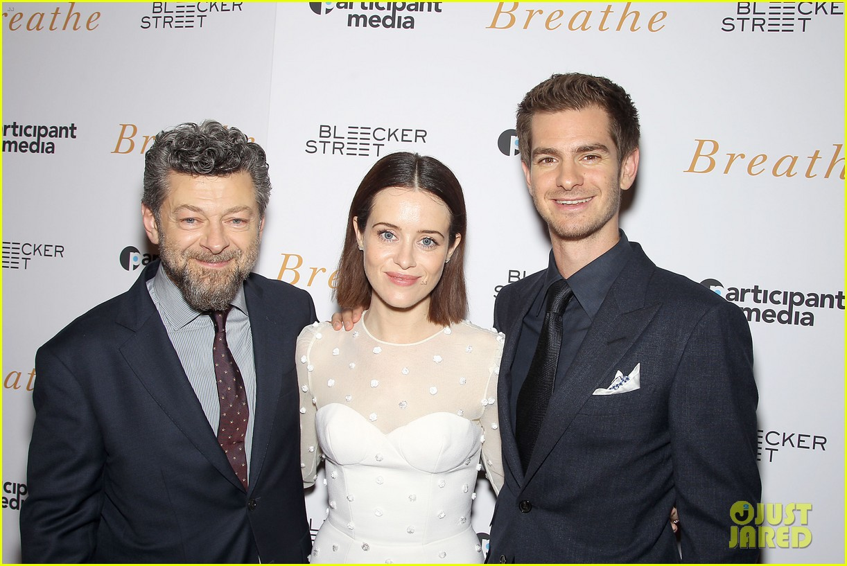 andrew garfield claire foy breath screening nyc 133970342