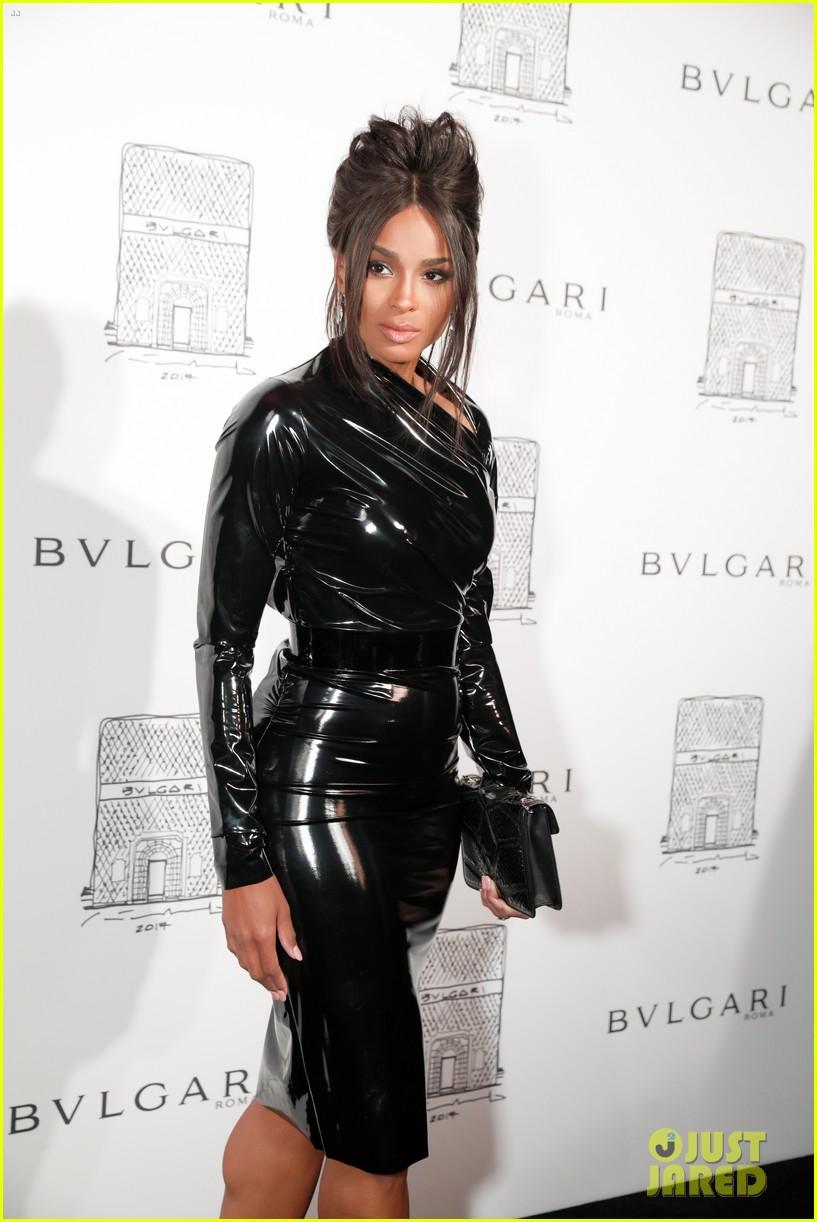 Ciara Amp Lily Aldridge Stun In Black At Bulgari Store