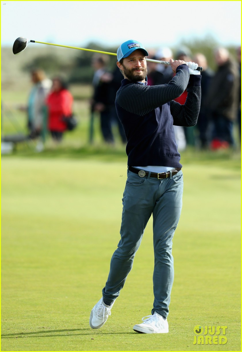 jamie dornan hits out of a bunker alfred dunhill championship 013969203