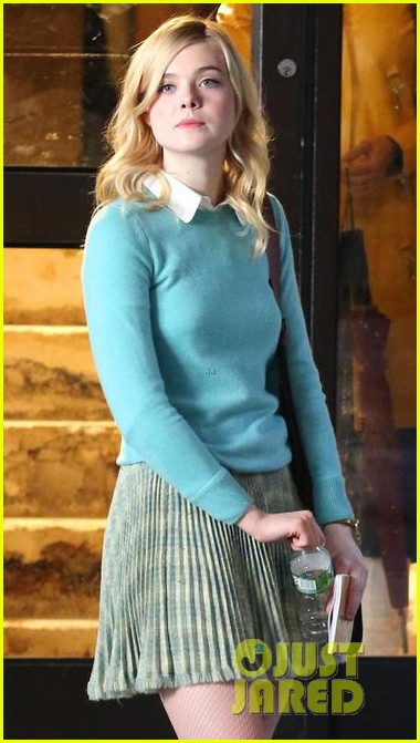 elle fanning shares a laugh on set of woody allen movie in nyc 093975393