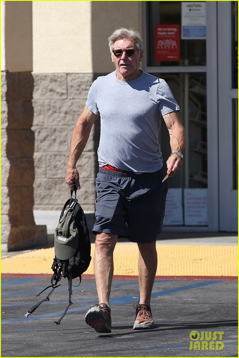 Harrison Ford Shows Some Muscle While Running Errands ...