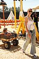 jaime king takes birthday boy james knight pumpkin picking 11