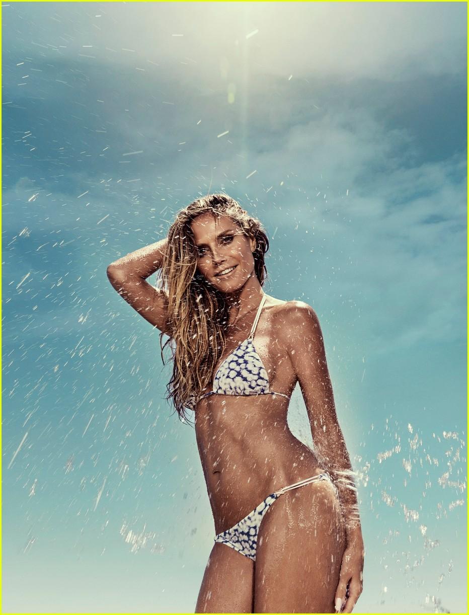 heidi klum sizzles in her new swimwear campaign 033971801