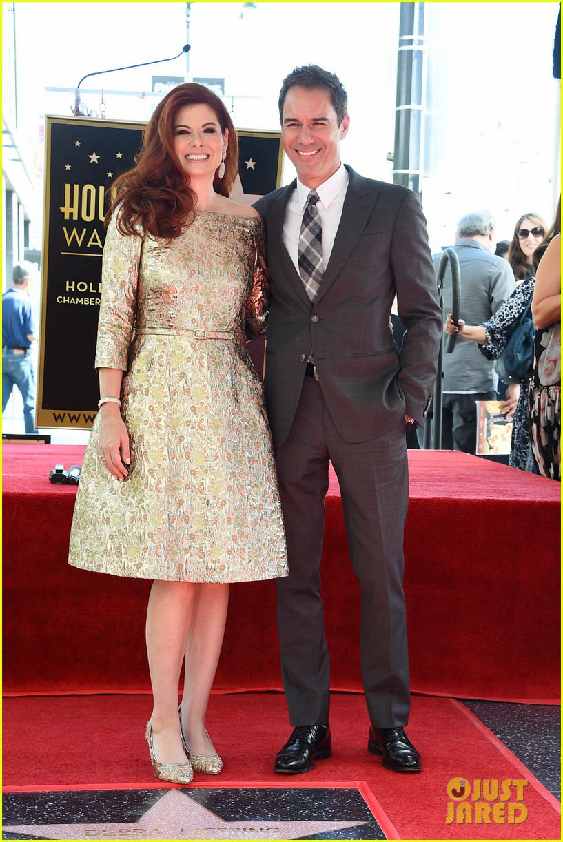 debra messings will and grace co stars support her at hollywood walk of fame ceremony 053969046