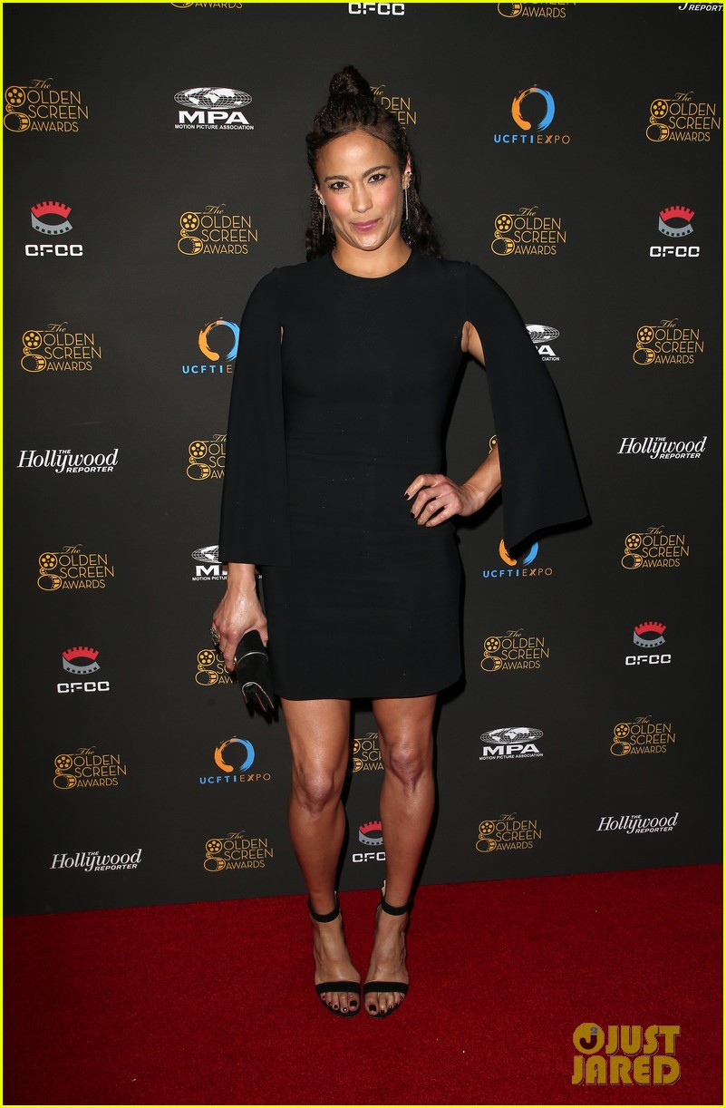 Paula Patton Hits Red Carpet at 2017 Golden Screen Awards ...