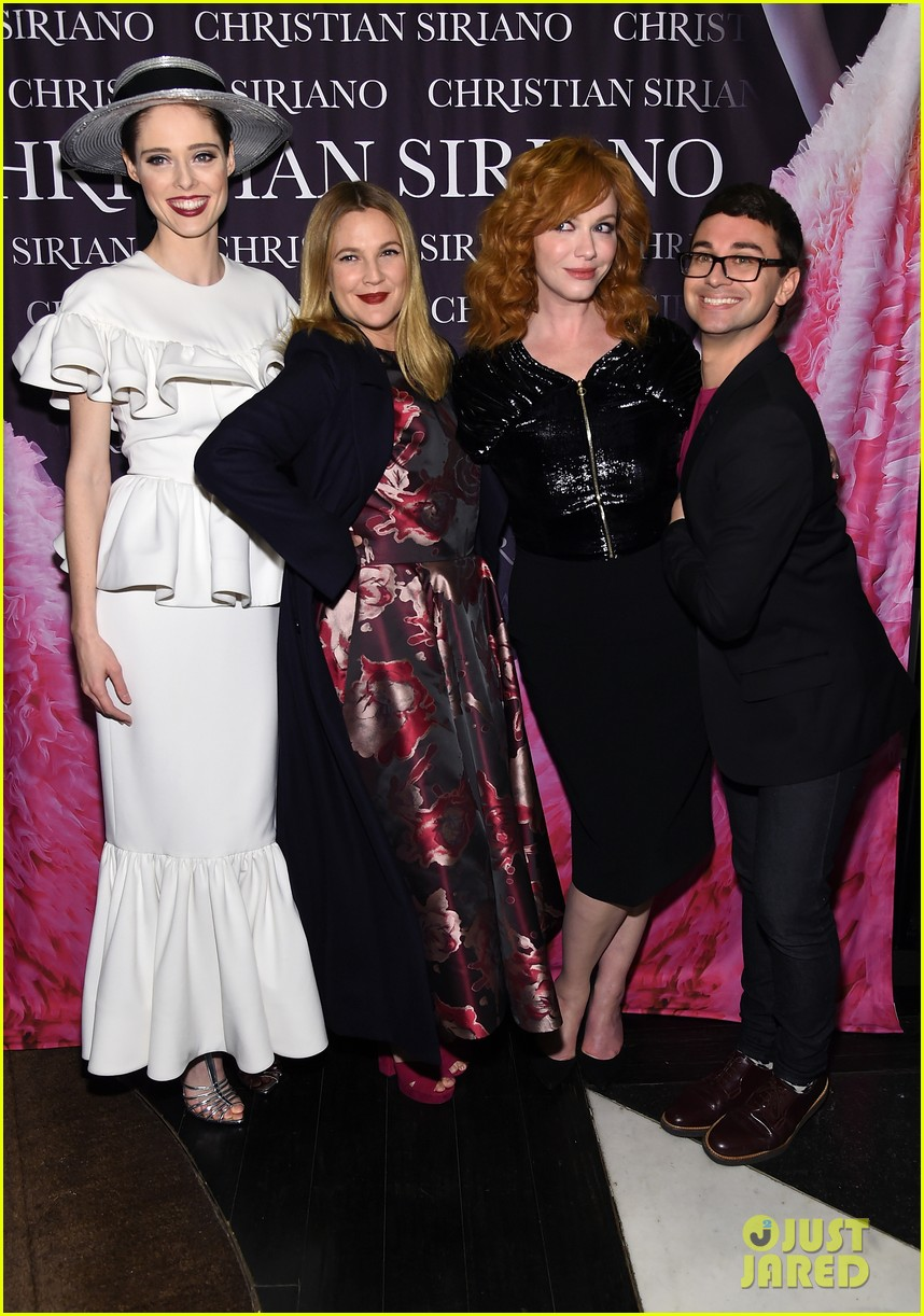 drew barrymore christina hendricks christian siriano dresses to dream about book launch 023984812