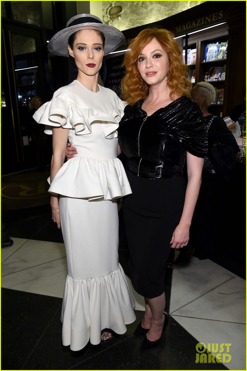 drew barrymore christina hendricks christian siriano dresses to dream about book launch 083984818