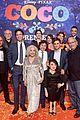 jonathan groff idina menzel join coco cast at marigold carpet premiere 70