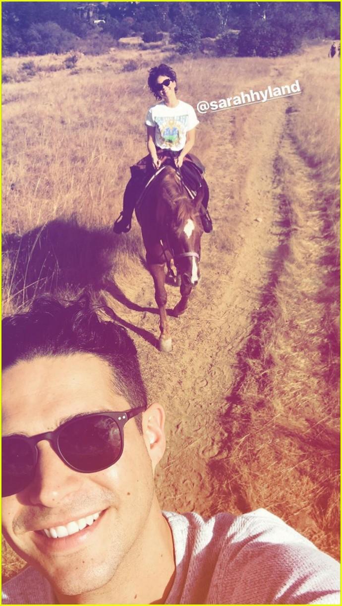 sarah hyland wells adams horseback riding date 043983255