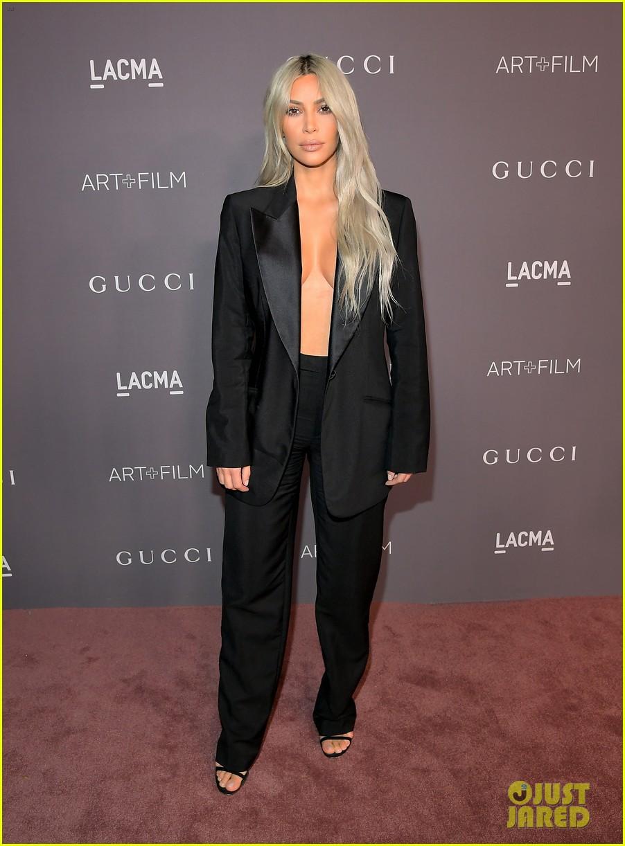 kim kardashian goes braless for lacma gala 053982411