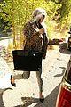 fergie rocks a leopard print jacket for a meeting in la 09