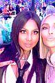 kim kardashian hangs with christina aguilera at christmas party 07