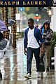 sterling k brown braves the rain in beverly hills 06