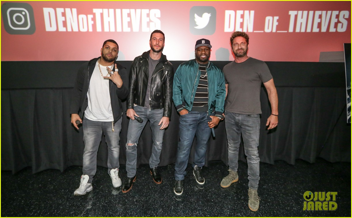gerard butler 50 cent team up in miami for den of thieves special screening 034012435