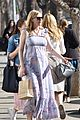 kirsten dunst covers up baby bump in purple maxi dress 18
