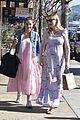 kirsten dunst covers up baby bump in purple maxi dress 24