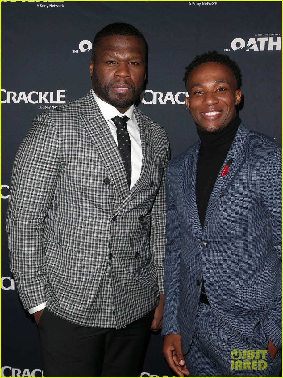 50 cent supports ryan kwanten the oath cast at l a premiere 11