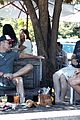 chris hemsworth matt damon out for lunch 43