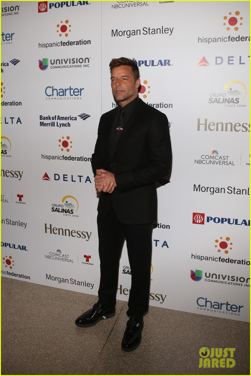 ricky martin lin manuel miranda suit up for rising stronger gala in NYC 11