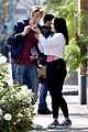 ariel winter and levi meaden rock matching shoes while shopping at costco 06