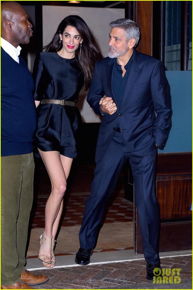 George Clooney celebrates his birthday in New York at Laconda Verde George-clooney-amal-birthday-dinner-02