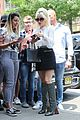 lady gaga greets fans during another day at the studio 13