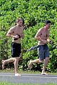 charlie hunnam garrett hedlund shirtless run 15