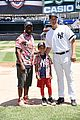 taye diggs celebrates fathers day with son walker at yankees game 03
