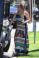 hilary duff dresses her baby bump in colorful dress 07
