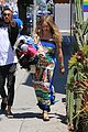 hilary duff dresses her baby bump in colorful dress 11