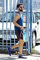 darren criss shows off his biceps while heading to the gym 03
