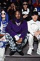 timothee chalamet frank ocean buddy up at louis vuitton mens paris fashion show 19
