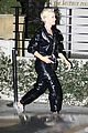 katy perry orlando bloom arrive on motorcycle for jennifer aniston birthday party 11