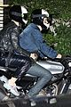 katy perry orlando bloom arrive on motorcycle for jennifer aniston birthday party 15