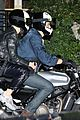 katy perry orlando bloom arrive on motorcycle for jennifer aniston birthday party 19