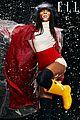 winnie harlow channels singing in the rain for elle shoot 07