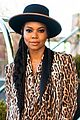 gabrielle union stuns in leopard print blazer while out in nyc 05