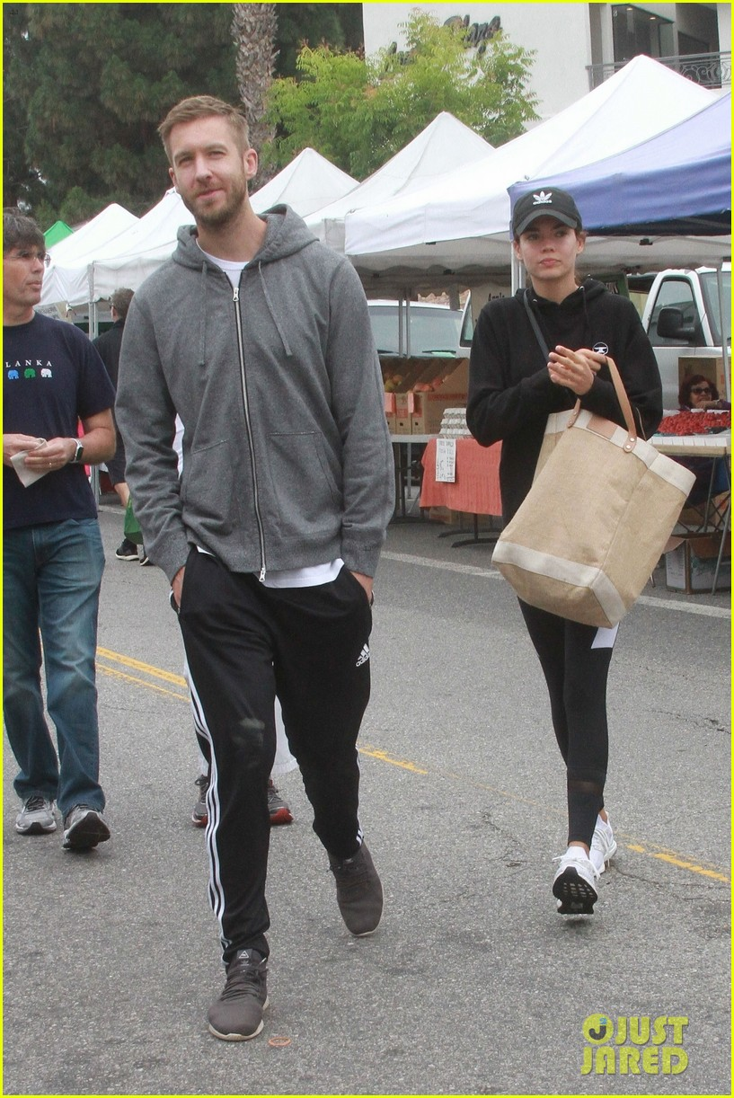 calvin harris aarika wolf spend the day at farmers market 014310796